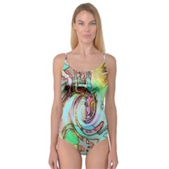 Art Pattern Camisole Leotard