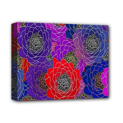 Colorful Background Of Multi Color Floral Pattern Deluxe Canvas 14  X 11  by Nexatart