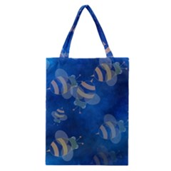 Seamless Bee Tile Cartoon Tilable Design Classic Tote Bag by Nexatart