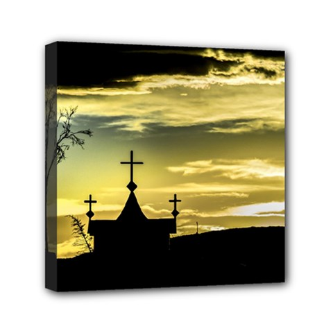 Graves At Side Of Road In Santa Cruz, Argentina Mini Canvas 6  X 6  by dflcprints
