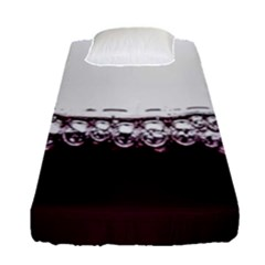 Bubbles In Red Wine Fitted Sheet (single Size)