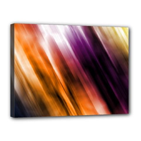Colourful Grunge Stripe Background Canvas 16  X 12  by Nexatart