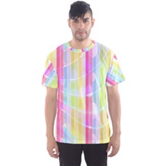 Abstract Stipes Colorful Background Circles And Waves Wallpaper Men s Sport Mesh Tee