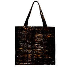 Wood Texture Dark Background Pattern Zipper Grocery Tote Bag by Nexatart