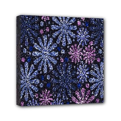 Pixel Pattern Colorful And Glittering Pixelated Mini Canvas 6  X 6  by Nexatart