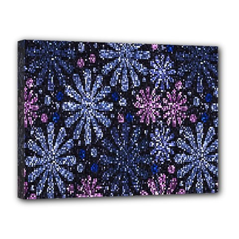 Pixel Pattern Colorful And Glittering Pixelated Canvas 16  X 12  by Nexatart