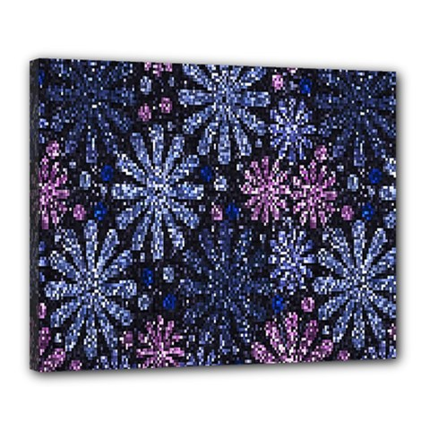 Pixel Pattern Colorful And Glittering Pixelated Canvas 20  X 16  by Nexatart