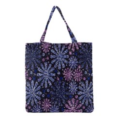 Pixel Pattern Colorful And Glittering Pixelated Grocery Tote Bag by Nexatart