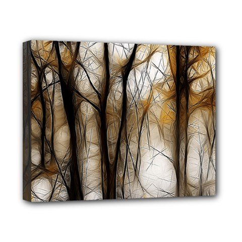 Fall Forest Artistic Background Canvas 10  X 8  by Nexatart