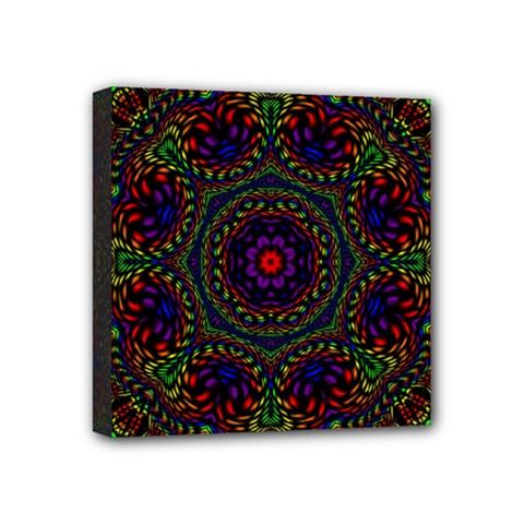 Rainbow Kaleidoscope Mini Canvas 4  X 4  by Nexatart