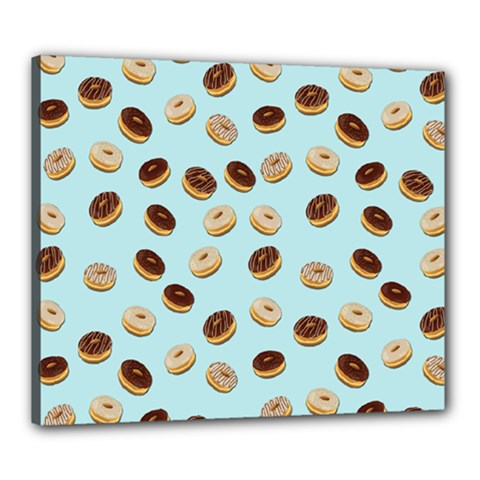 Donuts Pattern Canvas 24  X 20  by Valentinaart