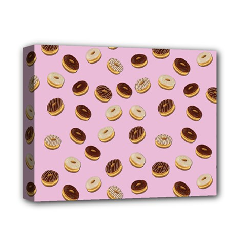 Donuts Pattern Deluxe Canvas 14  X 11  by Valentinaart