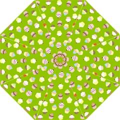 Cupcakes Pattern Hook Handle Umbrellas (large) by Valentinaart
