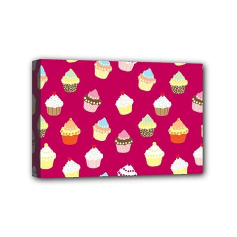 Cupcakes Pattern Mini Canvas 6  X 4  by Valentinaart