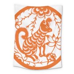 Chinese Zodiac Dog Medium Tapestry by Onesevenart
