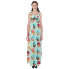 Cup Cakes Party Empire Waist Maxi Dress by tarastyle