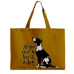 Dog Person Zipper Mini Tote Bag by Valentinaart