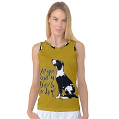 Dog Person Women s Basketball Tank Top by Valentinaart