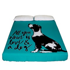 Dog Person Fitted Sheet (california King Size) by Valentinaart
