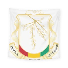 Coat Of Arms Of Republic Of Guinea  Square Tapestry (small) by abbeyz71