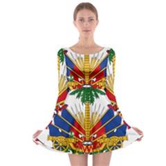 Coat Of Arms Of Haiti Long Sleeve Skater Dress by abbeyz71
