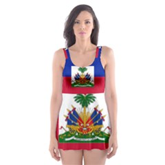 Flag Of Haiti  Skater Dress Swimsuit by abbeyz71