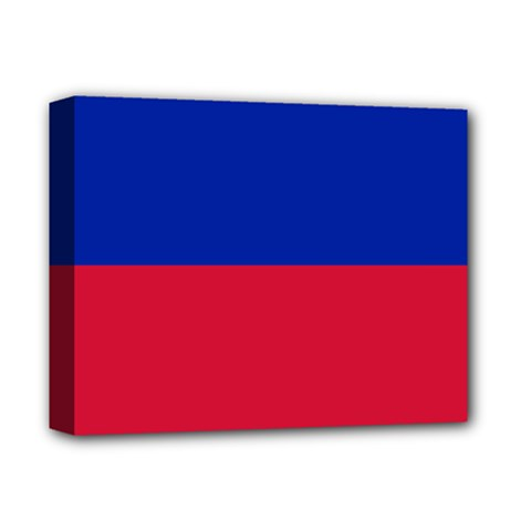 Civil Flag Of Haiti (without Coat Of Arms) Deluxe Canvas 14  X 11  by abbeyz71