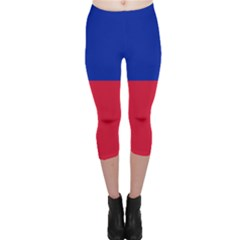 Civil Flag Of Haiti (without Coat Of Arms) Capri Leggings  by abbeyz71
