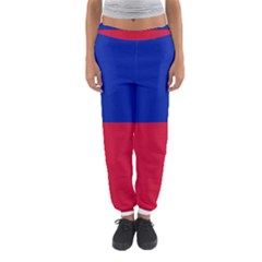Civil Flag Of Haiti (without Coat Of Arms) Women s Jogger Sweatpants by abbeyz71