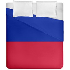 Civil Flag Of Haiti (without Coat Of Arms) Duvet Cover Double Side (california King Size) by abbeyz71