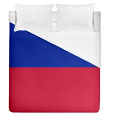 Civil Flag Of Haiti (without Coat Of Arms) Duvet Cover (queen Size) by abbeyz71