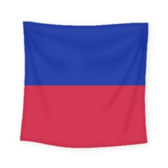 Civil Flag Of Haiti (without Coat Of Arms) Square Tapestry (small) by abbeyz71