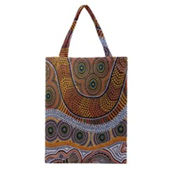 Aboriginal Traditional Pattern Classic Tote Bag by Onesevenart
