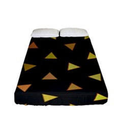 Shapes Abstract Triangles Pattern Fitted Sheet (Full/ Double Size)