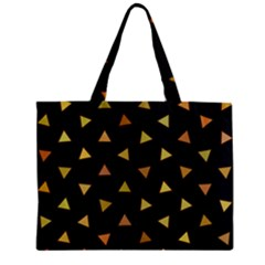 Shapes Abstract Triangles Pattern Zipper Mini Tote Bag by Nexatart