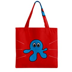 Creature Forms Funny Monster Comic Zipper Grocery Tote Bag by Nexatart