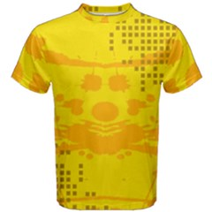 Texture Yellow Abstract Background Men s Cotton Tee