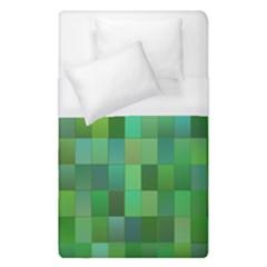 Green Blocks Pattern Backdrop Duvet Cover (single Size) by Nexatart