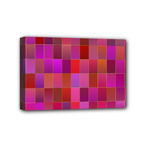 Shapes Abstract Pink Mini Canvas 6  X 4  by Nexatart