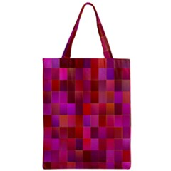 Shapes Abstract Pink Zipper Classic Tote Bag by Nexatart