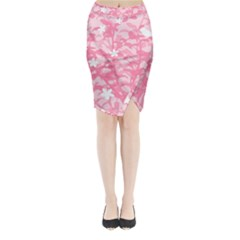 Plant Flowers Bird Spring Midi Wrap Pencil Skirt by Nexatart