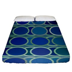 Circles Abstract Blue Pattern Fitted Sheet (king Size) by Nexatart