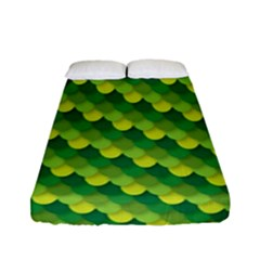 Dragon Scale Scales Pattern Fitted Sheet (full/ Double Size) by Nexatart