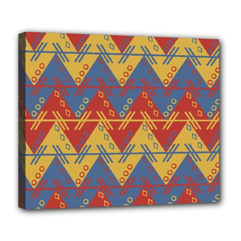 Aztec Traditional Ethnic Pattern Deluxe Canvas 24  X 20   by Nexatart