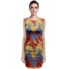 Aztec Traditional Ethnic Pattern Classic Sleeveless Midi Dress by Nexatart