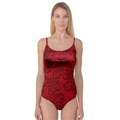 Christmas Background Red Star Camisole Leotard