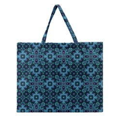 Abstract Pattern Design Texture Zipper Large Tote Bag by Nexatart