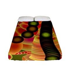 Abstract Background Digital Green Fitted Sheet (full/ Double Size) by Nexatart