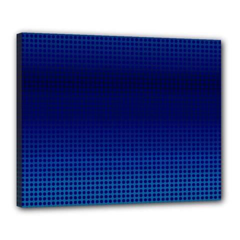 Blue Dot Canvas 20  X 16  by PhotoNOLA