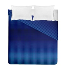 Blue Dot Duvet Cover Double Side (full/ Double Size) by PhotoNOLA